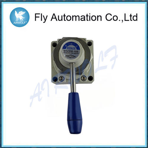 Rotary Style Hand Lever Valve 4HV330-10S Pneumatic Toggle Switch Direct Acting Type
