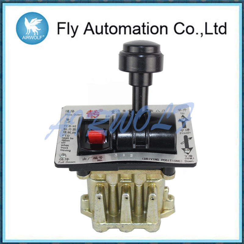 Six Hole Air Control Dump Truck Valve 6CV-D-N With PTO Function Aluminum Alloy