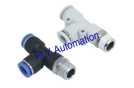 Quick Clamp PD Pisco Branch Tee Zinc Brass Pneumatic Tube Fittings